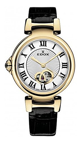 Edox Women's 85025 37RC ARR LaPassion Analog Display Swiss Automatic Black Watch