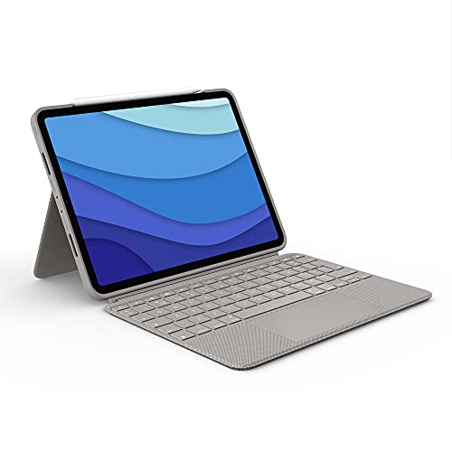 funda + teclado ipad pro 11 2021/2020/2018 Logitech sand