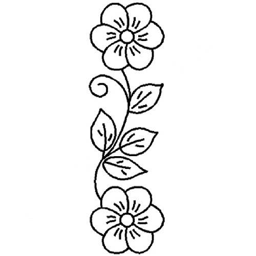 Stencil Border Flower - LARGE 4