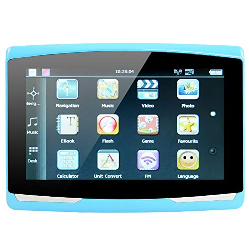 DishyKooker 5 inch Car GPS Navigation Sat Nav 8G CPU800M Wince6.0+FM Transmitter+Multi-Languages Car Com-Pass Blue