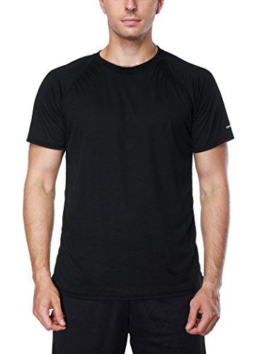 Vegatos Men's Swim Shirt Short Sleeve Surf Swim Tee Rashguard Shirts Workout Top
