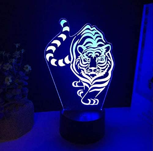 Tiger LED 3d luz de la noche 7 cambio de color táctil usb ...