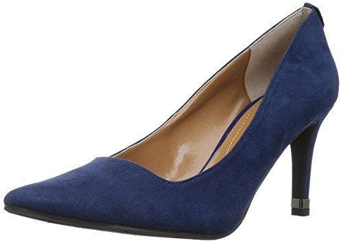 J.Renee Women's Sascha Pump,Satin Navy,10 Medium US