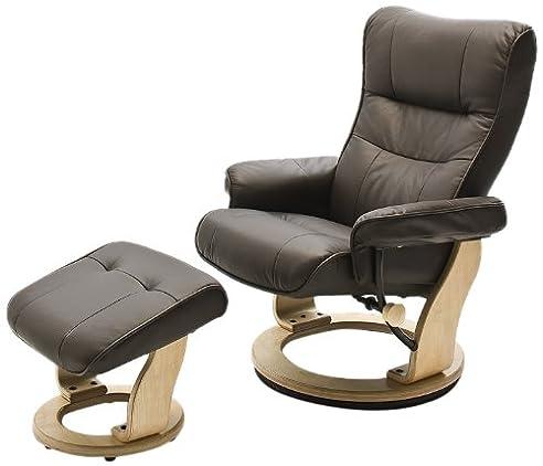 Superior Robas Lund Relaxsessel Montreal Mit Hocker Leder Braun 82 X 84 132 X 105 Cm Gallery