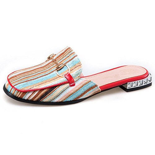 Coolcept Mules Chaussures Multicolor Femmes With Metal Ferme Mode Bout Appartement Jaune XnYXfrq0