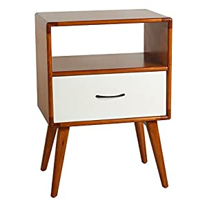 Beautiful Porthos Home Andrew Mid Century Side Table, White