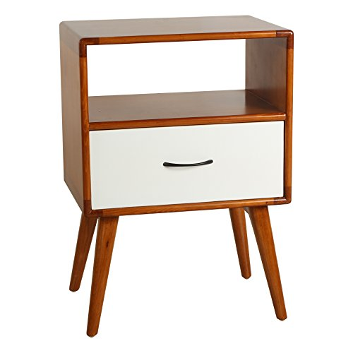 Porthos Home Andrew Mid-Century Side Table, White by Porthos Home