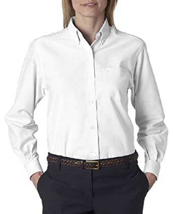 Van Heusen Women S Classic Wrinkle Resistant Oxford Shirt White