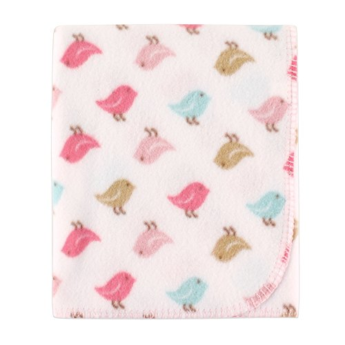 Luvable Friends Printed Fleece Blanket, Birds