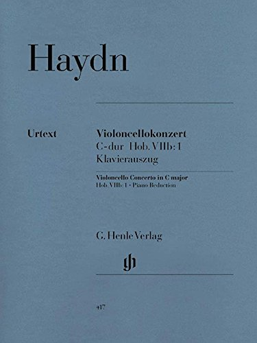 Cello Concerto Sheet Music - Haydn: Cello Concerto in C Major, Hob. VIIb:1