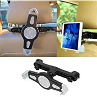 """Eightiz Universal Car Back Seat Holder Stand for iPad, Tab/Tablet, Mounting System 360 Degrees Adjustable for Tablets Upto 7"""" to 11"""" (Black)"""