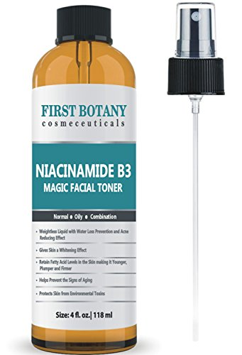 First Botany Niacinamide Vitamin B3 Magic Toner 4 fl. oz Acne Fighting Effect,Skin Lightening Effect and Water Loss Prevention Effect