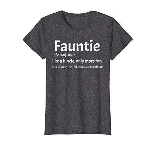 Fun Womens Dark T-shirt - Womens Fauntie t shirt Like a funcle t shirt only for fun Aunts XL Dark Heather