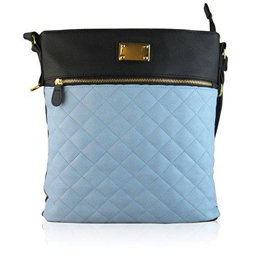 Xardi Style Noir London Medium Cuir Sacs Femme Matelassé Main À Pour Bandoulière bleu Cross Body Neuf BBSvrxq
