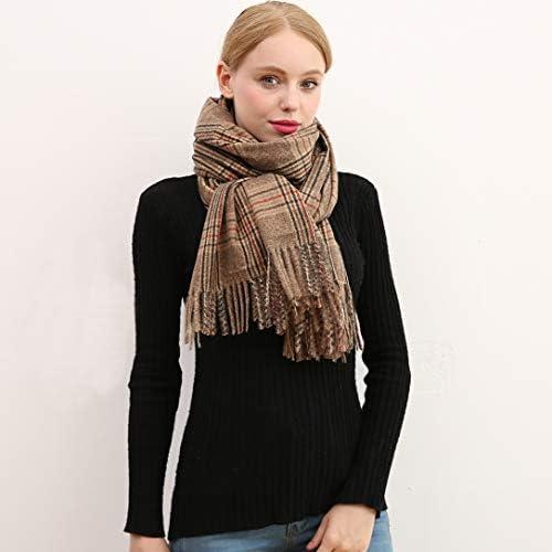 Longwu Sciarpa in pura lana di cashmere 100/% Scialle in pashmina avvolgente per donna Sciarpe lunghe lunghe e spesse