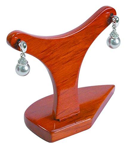 Home Oak Design Single (888 DisplayY Design Earring Display Faux Honey Oak - 2 Pcs)