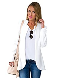 Blooming Jelly Women's Long Sleeve Open Front Solid Cardigan Jacket