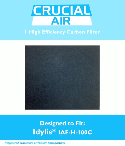 1 Idylis C Carbon Filter, Fits Idylis Air Purifiers IAP-10-200 & IAP-10-280, Model # IAFH100C, IAF-H-100C & 302656, Designed & Engineered by Crucial Air