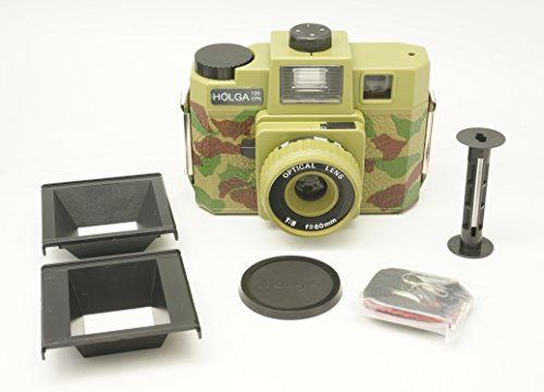 Holga 120CFN Camouflage Colored Flash 120 Format Film Camera