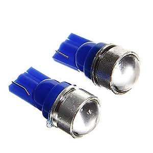 t10 1.5w lente condensadora azul llevó las lámparas de instrumentos del coche (12V CC, 2 unidades)