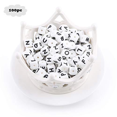 - Biter teether 10mm 100pc Silicone Alphabet Teether Beads Safe BPA Free DIY Letter Nursing Necklace Bracelet Beads Baby Sensory Toys