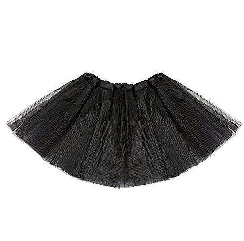 Mini Amoretu Robe De Jupe Noir Danse Femme Tutu Tulle Ballet Pettiskirt En W4q17Iq