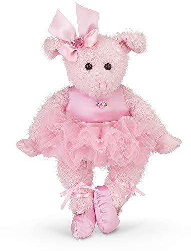 Bearington Bitsy Ballerina Plush Stuffed Animal Pig with Tutu (Pink) 15