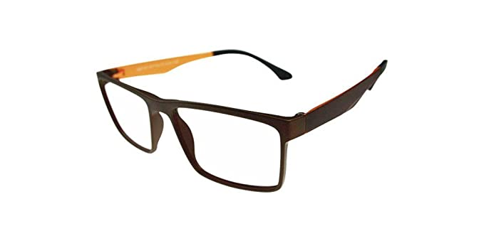 ed98fb0a082a Image Unavailable. Image not available for. Color  Coffee + Yellow Memory ULTEM  Flexible Myopia Glasses Men Women Optical Eyeglass Frame Eyewear Rx