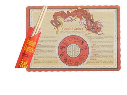 Combo Chopsticks and Placemat, Set wit 50 9
