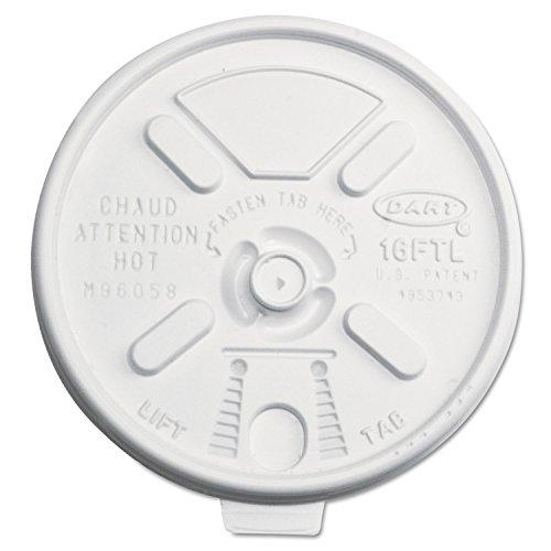 White, Lift N Lock Lid for 12J16, 14J16, 16J16, 20J16, 24J16, 12X16G, 16X16G, 20X16G, 24X16G - 1000 Per Case. ()