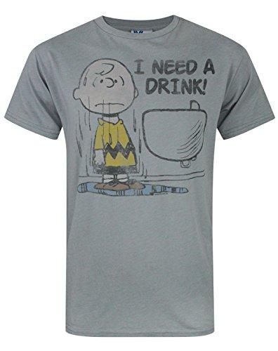 Junk Mens Food Peanuts - Junk Food Peanuts I Need A Drink Men's T-Shirt (S)