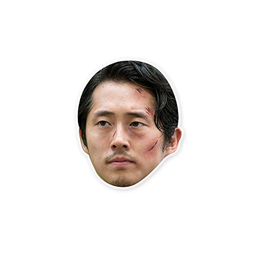 Beaten Walking Dead Glenn Mask - Perfect for Halloween, Masquerade, Parties, Events, Concerts - Jumbo Size (Glenn Walking Dead Halloween Costume)
