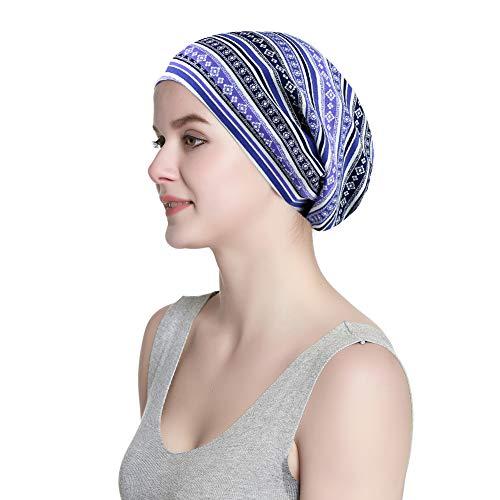 Soft Daily Beanie Floral Printed Turban Vintage Pattern Hair Wrap