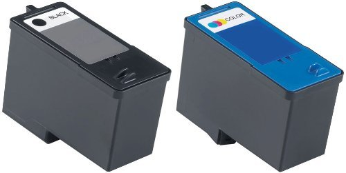 Remanufactured Ink Cartridge Replacement for Dell Series 7 CH883 CH884 (1 Black 1 Color) 2 Pack