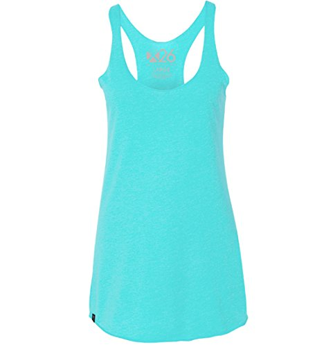 Women's Tri-Blend Soft Wash Racer Back Tank Top Everyday Plain and Heather Tanks ()