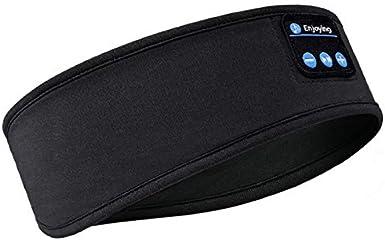 Auriculares para dormir con diadema Bluetooth, auriculares inalámbricos para dormir suaves con parlantes ultrafinos para...