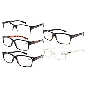 Eyekepper Spring Hinges Vintage Eyeglasses Men(One for each color,+0.00)
