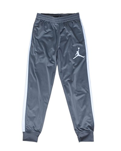 - Jordan Big Boys' Basketball/Track Warm-Up Pants (Large, Grey/White)