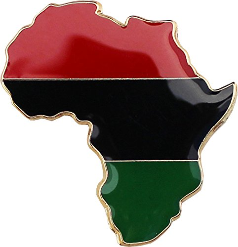 Africa Flags - African American (Continent) - Cutout Lapel Pin