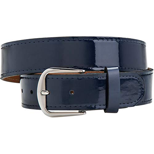 Champro Adult Patent Leather Baseball Belt Navy S