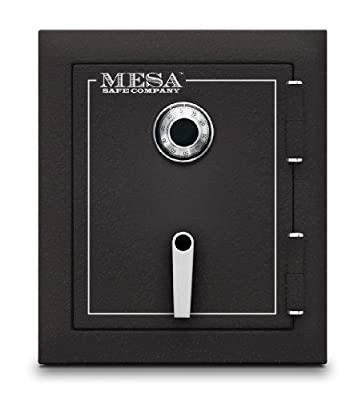 Mesa Safe MBF1512C All Steel Burglary and Fire Safe with Combination Lock, 1.7-Cubic Feet, Hammered Grey