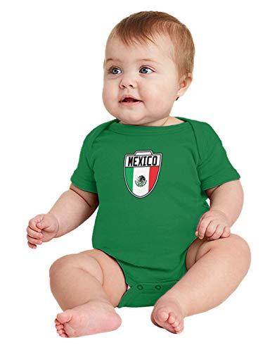 Mexico - Country Soccer Crest Bodysuit (Kelly, Newborn)