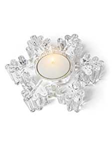 "Abbott Collection Thick Snowflake Tea Lite Holder, 4.5"""