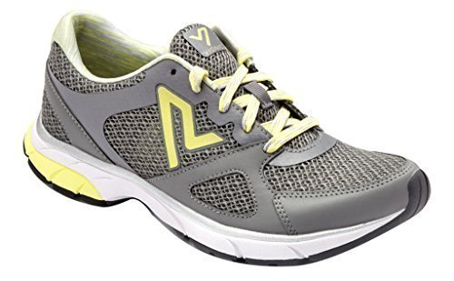 Vionic Women's Satima Active Sneaker B01HQK6PWS 7 B(M) US|Mid Grey/Pale Lime Yellow
