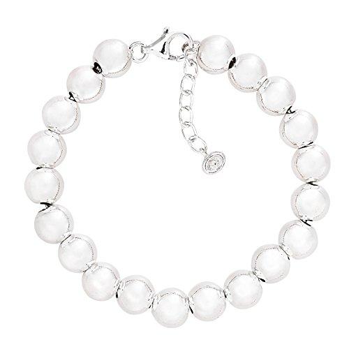 (Silpada 'on the Ball' Sterling Silver Bead Bracelet, 7.5