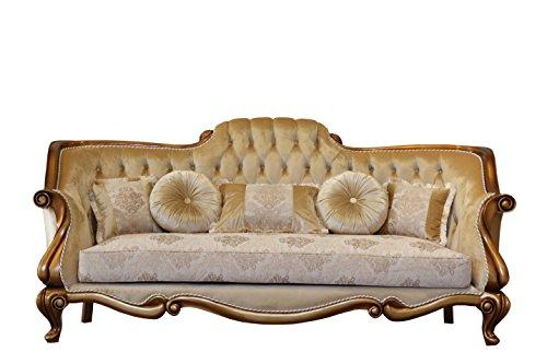 Amazon.com: Europeo muebles Carlotta lujo sofá: Kitchen & Dining