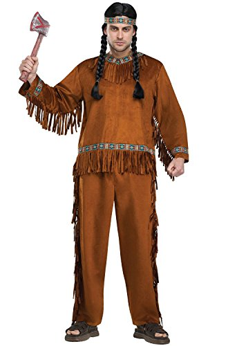 Fun World Men's Native American Adlt Cstm, Multi, Standard ()
