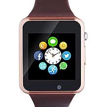 Bluetooth Smart Watch A1 - WJPILIS Touch Screen Smart Wrist Watch Smartwatch Phone SIM Card Slot Camera Pedometer Sport Tracker Compatible iOS iPhone Android Samsung LG Men Women Child (Gold)