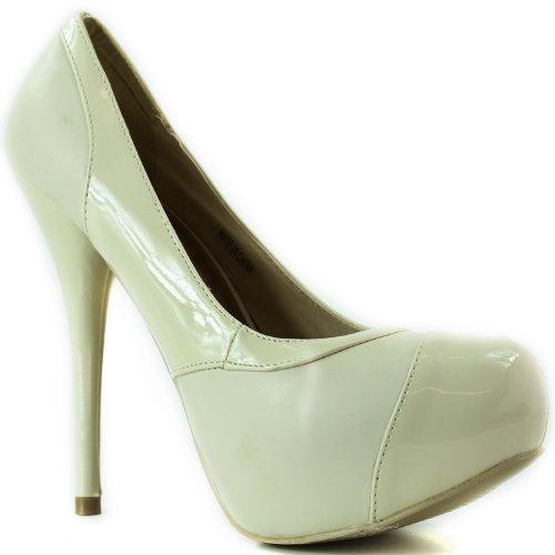 Zapatillas De Moda Modesta Abby-06 Patent Pu De La Plataforma De Cuero De Las Mujeres Zapatos De Moda Desnudo