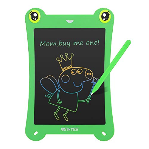 NEWYES 8.5 Inch Colorful Frog-pad Doodle Pad Drawing Board LCD Writing Tablet Toys for Kids (Green)